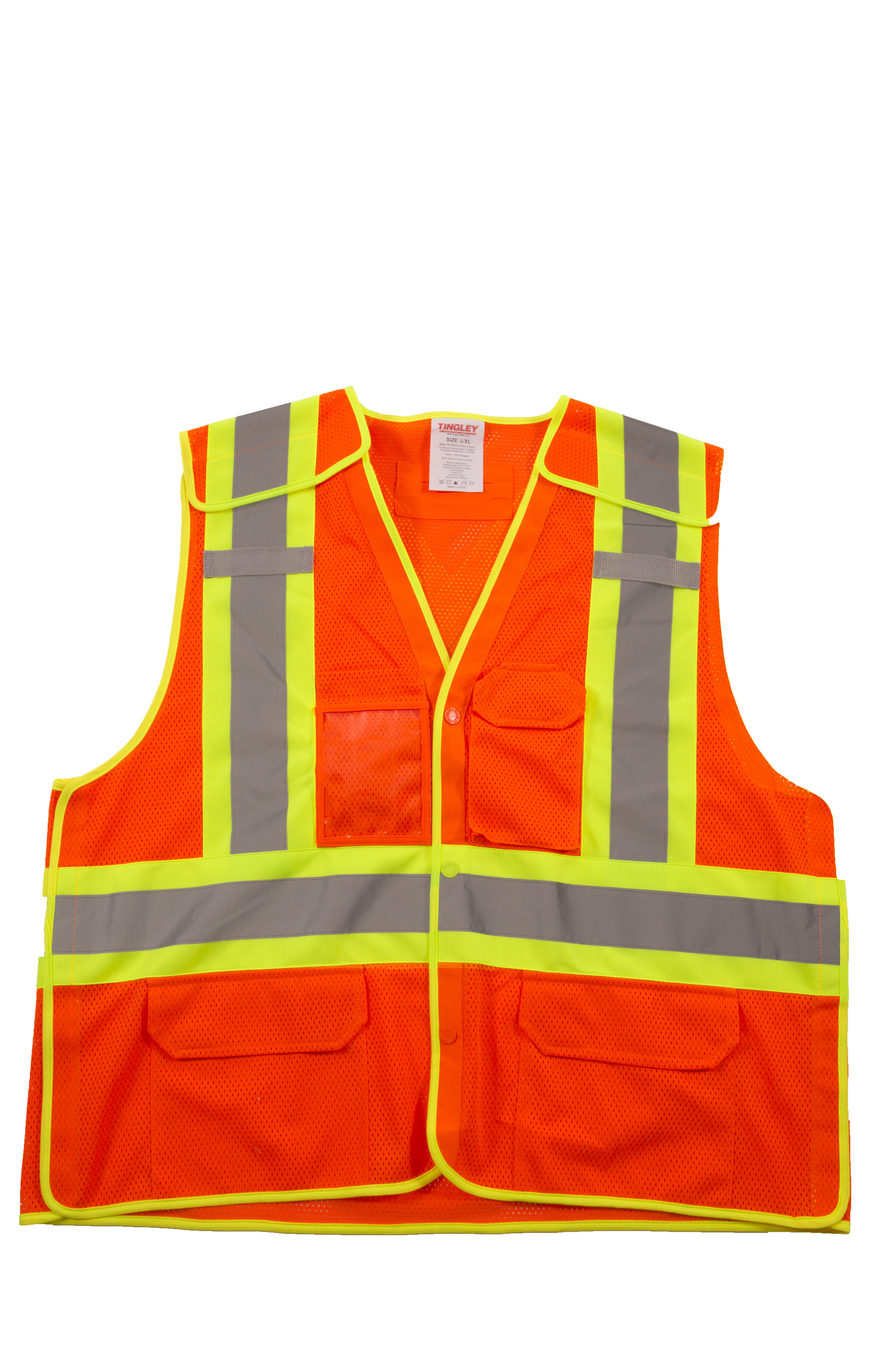 High Visibility Mesh Safety Vest Waistcoat Harness with Reflective Strip Red