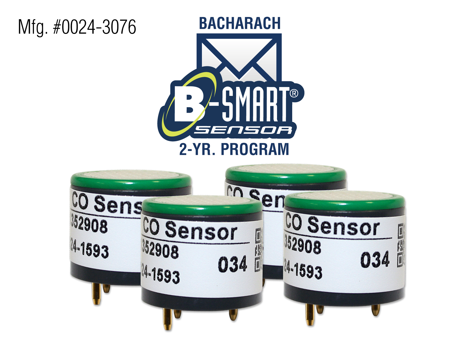 Bacharach 0024-1591Replacement Long-life O2 Sensor For the Fyrite Insigt Plus
